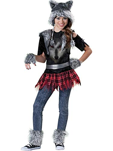 Incharacter Costumes Tween Wear Wolf Costume, Grey/Black/Red, Small