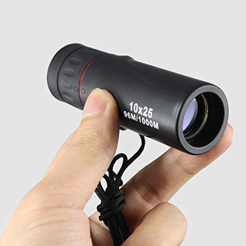 Bestlymood Spyglass Verde del Bolsillo de la Pel/ícula del Foco del Telescopio Profesional Monocular 10X25 HD