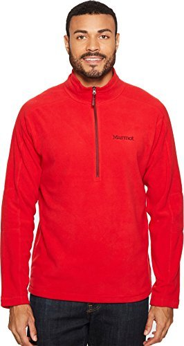Marmot Men's Rocklin 1/2 Zip Team Red/Port Large (Fleece Marmot Mens)