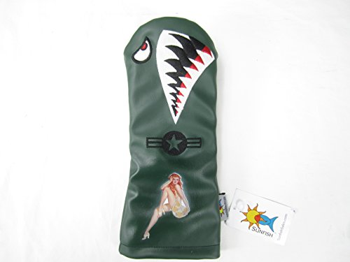Sunfish Leather Driver Golf Headcover Bomber Warhawk Militar