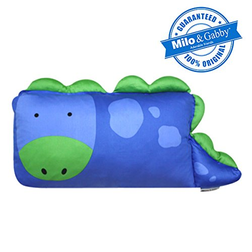 MILO & GABBY Original Animal 3D Toddler Pillowcase for Babies and Kids, 100% Cotton Dylan The Dinosaur, from MILO & GABBY