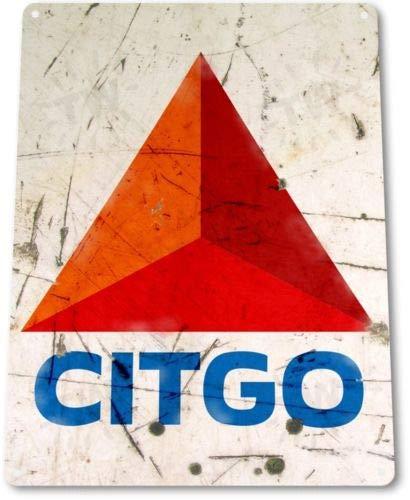 TIN Sign Citgo Gas Oil Tin Metal Sign Station Pump Auto Gas Garage -
