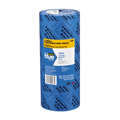 ScotchBlue Painter's Tape, Multi-Use, 1.88-Inch by 60-Yard, Contractor Pack, 6 Rolls