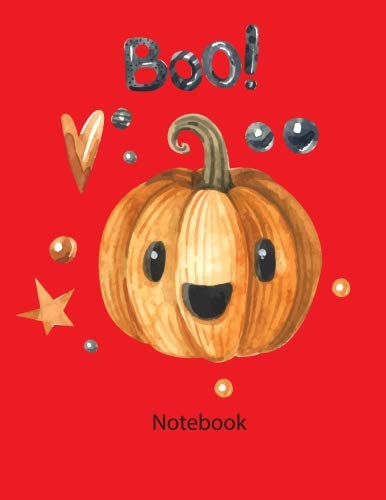 notebook: Notebook Happy halloween Boo red color 8.5x11 110page (This Notebook Happy halloween Boo red color.  There is ample room inside for writing ... 110 pages  that are -