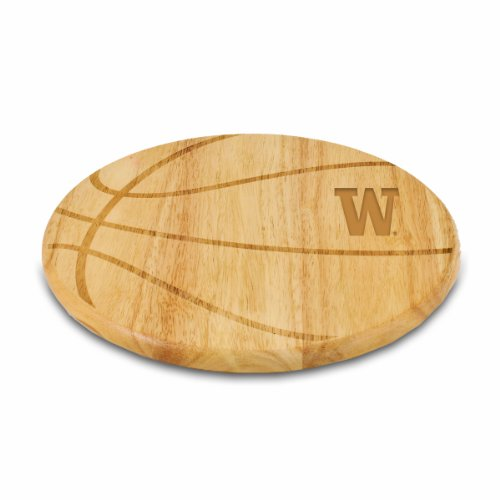 Basketball Collegiate Pacific (PICNIC TIME NCAA Washington Huskies Free Throw 12-1/2-Inch Cutting Board)