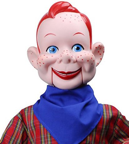 Howdy Doody Dummy, Celebrity Ventriloquist Doll, Star of Howdy Doody TV Show, 'All American Boy' w/Red Hair & Freckles. BONUS EBook 'How to Be a Ventriloquist' -