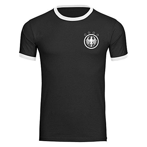 T-Shirt Deutschland Retro Herren schwarz / weiß Gr. S - 2XL Germany