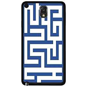 Blue Maze Hard Snap on Phone Case (Note 3 III) by icecream design