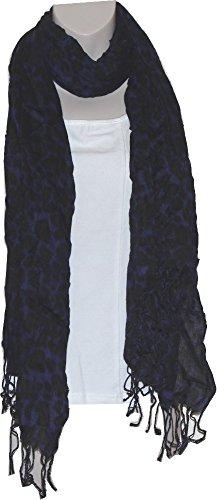 Liz Claiborne Scarf - Liz Claiborne New York Leopard Print Scarf (One Size, Indigo)