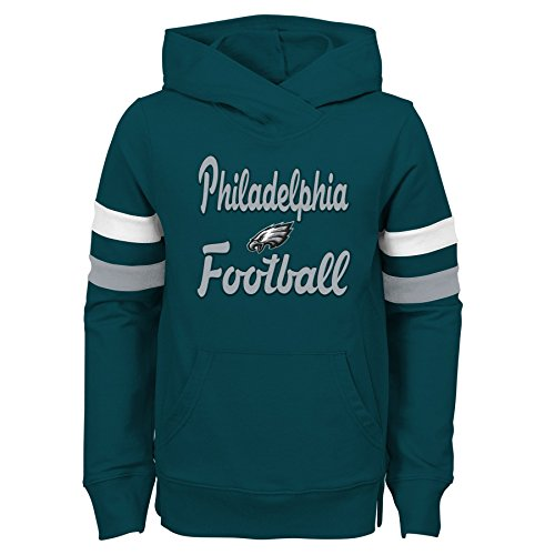 Outerstuff NFL Philadelphia Eagles Youth Girls Claim to Fame Overlay Hoodie, Jade, Youth Small(7-8)