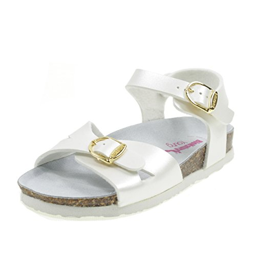 White White Model with Italy in Sandals 22B1005B Bionatura Birk Buckle Made qRgCOz