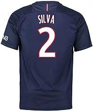7533aef983e 2016-17 PSG Home Football Soccer T-Shirt Jersey (Thiago Silva 2)