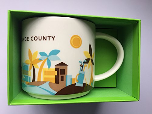 Starbucks New 2013 You Are Here Collection Orange County 14 Oz - County Mug