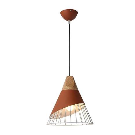 Araña de luces de madera nórdicas, lámparas de techo ...