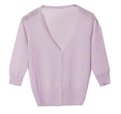 賠償写真虚偽Tootess Women's Vest Cardigan Basic Sunscreen Knitting Coat Button Shirt Top