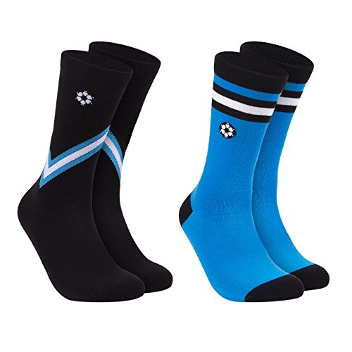 World Cup Jersey Socks  2-Pair Crew Socks for Men, Argentina National Team Jersey Design