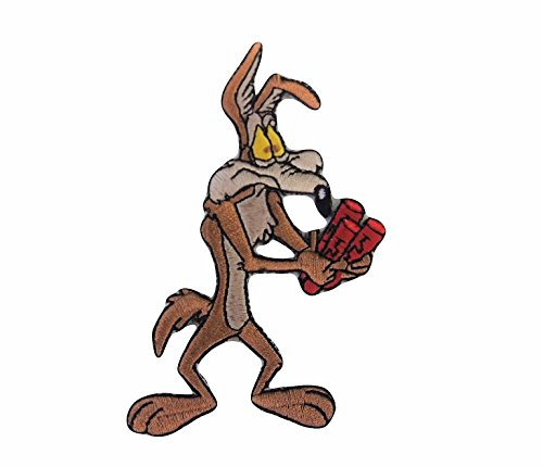 Looney Tunes Wile E. Coyote Dynamite Embroidered Iron on Patch (Looney Tunes Iron On Patches)