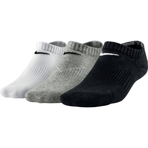 Nike Bomull Polstret Oppmøte Ungdom 3-pack Sokker Grå / Svart / Hvit