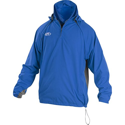 Rawlings Sporting Goods Mens Adult Jacket W Removable Sleeves & Hood, Royal, (National Team Woven Jacket)