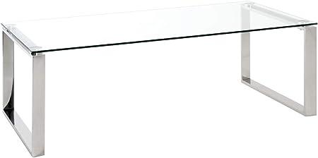 Acciaio Inox 60 x 120 x 40 cm Haku-M/öbel Tavolino Basso