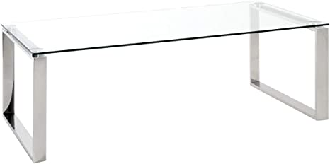 Tubo in Acciaio 60 x 60 x 50 cm Haku M/öbel Tavolino Basso