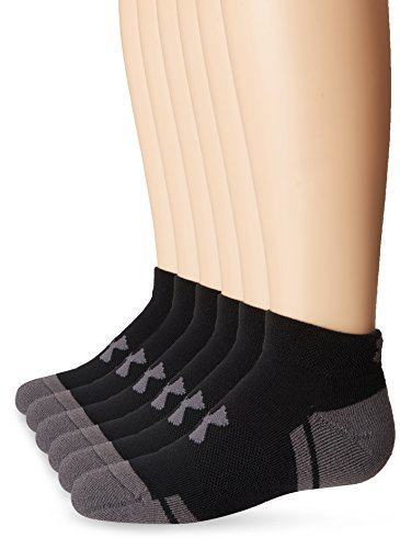 Under Armour Boys Resistor III Lo Cut Socks (6 Pack), Black/Graphite, Youth Large - U2911P6-001