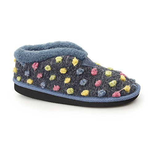 Ladies 'tilly' Montants Blue multi Sleepers Léger Chaussons qfFxq5d