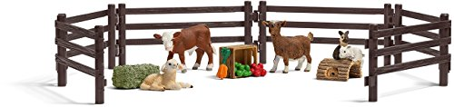 - Schleich Children's Farm Life Zoo Play Set