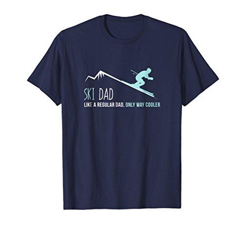 Mens Ski Dad Shirt, Funny Cute Winter Skiing Gift XL Navy