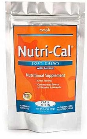 Nutri-Cal Soft Chews with Taurine Cat and Kitten Treat