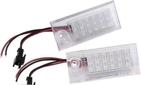 Set LED SMD Matrícula Iluminación Matrícula Leuchten 7308: Amazon.es: Coche y moto