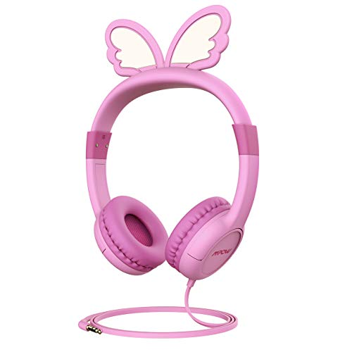 Mpow Kids Headphones 85dB Limited Hearing Protection, Music Sharing Function, Wired On-Ear Headsets,Gifts to Children,Butterfly-Inspired Design,School/Girls