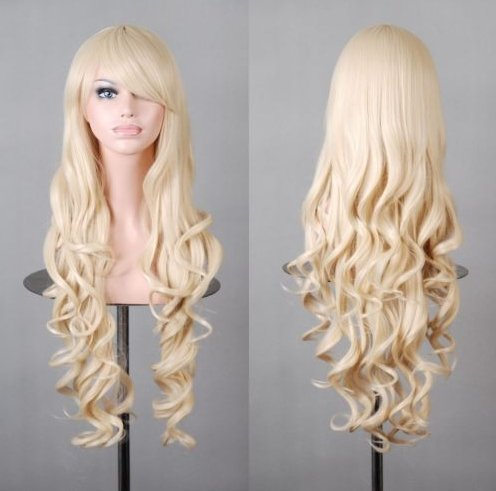 Simpleyourstyle Wigs 80cm / 32inch Curl  - Curls Halloween Wig Shopping Results