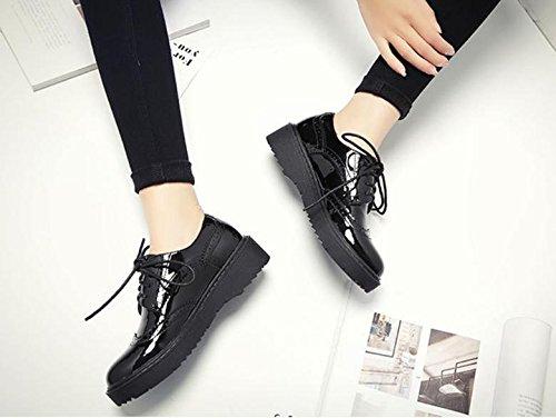 zapatos de británico mujer de la vendimia estilo británico de Nuevo 2018 zapatos ab4d83