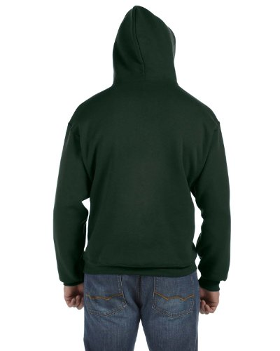 Fruit of the Loom 12 oz. Supercotton 70/30 Pullover Hood, Large, FOREST GREEN