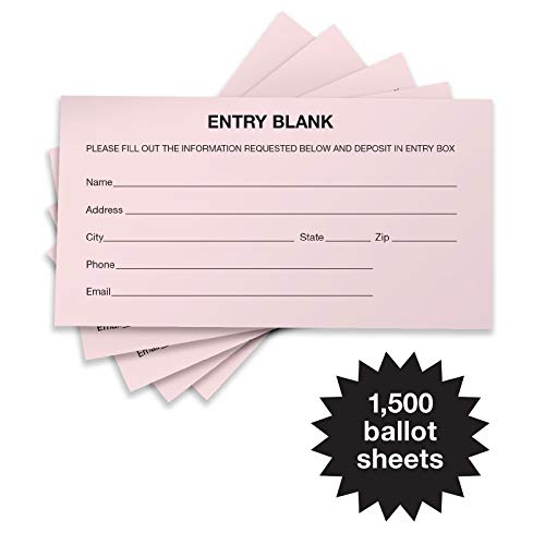 (1500 Entry Forms - Includes 15 Blank Raffle Ticket Pads - Perfect for Contest Entry Forms, Raffles, Ballots, Giveaways, Leads, Drawings (Pink))