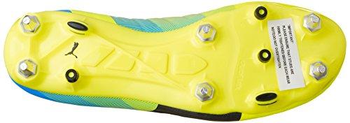 Puma evoPOWER 2.3 Mixed SG Herren Fußballschuhe Gelb (safety yellow-black-atomic blue 01)