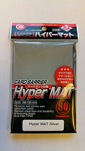 (1) Pack KMC NEW Hyper Matte Sleeves (80ct) SILVER - USA North AMERICAN EXCLUSIVE!!!