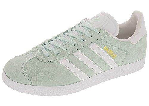 Adidas Women's Gazelle W Sneaker, Ice Mint/White/Metallic Gold, 9.5 Medium US