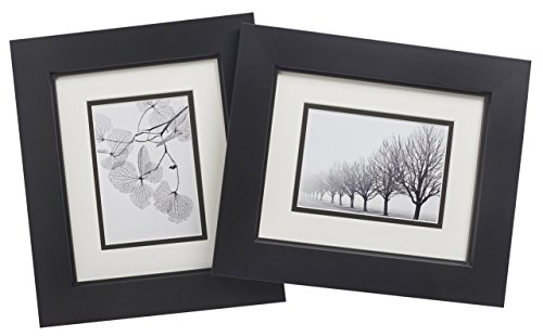 Old Town 8x10 Black Studio Wood Frame, 2-pack - New Zealand Pine and Malaysian Durian for a Gallery Ready Presentation (2, - Pictures Black Thick