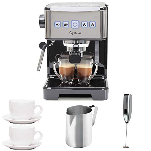 Capresso Ultima PRO Programmable Espresso & Cappuccino Machine w/ 2 Cappuccino Cups & Pitcher & Frother