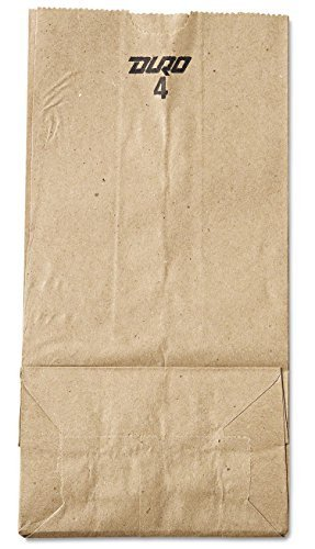 Grocery/Lunch Bag, Kraft Paper, 4 lb Capacity, (100 Count) (Brown)