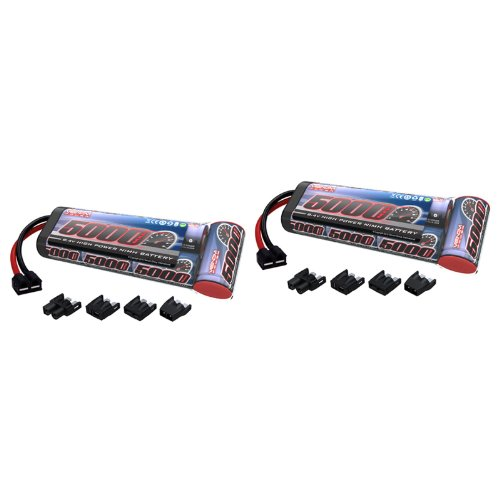 Venom 8.4V 5000mAh 7-Cell NiMH Battery Flat with Universal Plug (EC3/Deans/Traxxas/Tamiya) x2 Packs