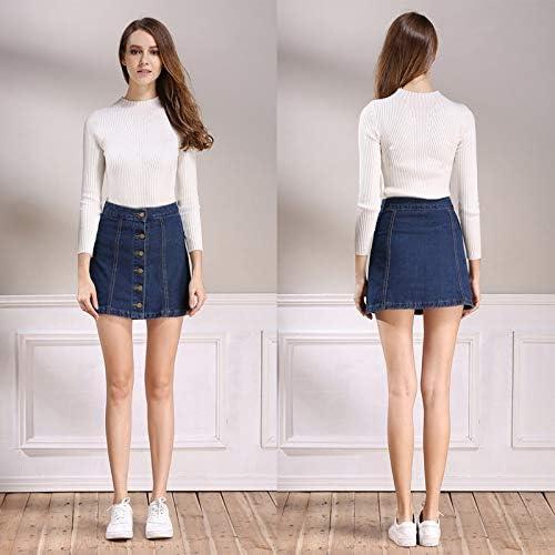 Verano para Mujer Damas A-Line Lápiz Jeans Falda Femme Pantalones ...