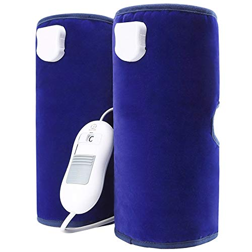 Heated Dual Calf and Foot&Knee Pad: Pain Relief, Leg Circulation, Cramps Arthritis Recovery,Muscles Pain Relief Relax,Heat Therapy Hot Compress to Warm Joint Relief Pain of Knee Stiff, Arthritis,Blue