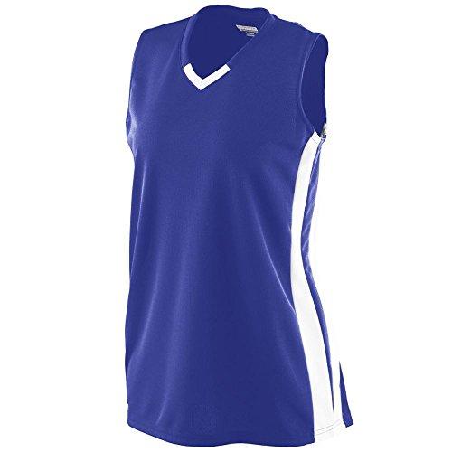 Augusta Sportswear Women's Wicking Mesh Powerhouse Jersey 2XL Purple/White ()
