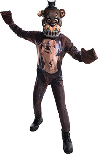 Five Nights At Freddy's Costume (Rubie's Costume Boys Five Nights At Freddy's Nightmare Fazbear Costume, Medium, Multicolor)