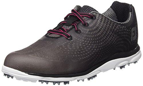 Footjoy Antracita para Negro Zapatos Empower Golf de Mujer rYWrv0gq