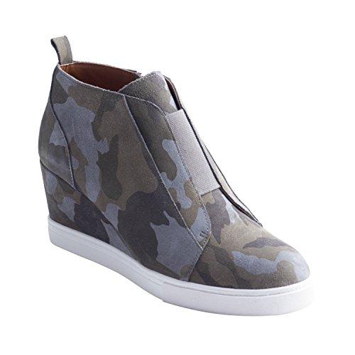 Linea Paolo Felicia | Platform Wedge Bootie Sneaker Camouflage Printed Suede ()