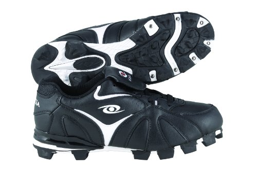 ACACIA RBI-Low Baseball/Softball Shoes, Black/White, (Low Softball Shoe)